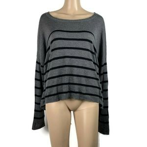 Vince Sweater Oversized Striped Cashmere Blend